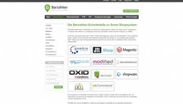 Payment Schnittstellen zu Online-Shops für Barzahlen