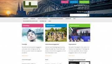 Kölner Freiwilligen Agentur Website