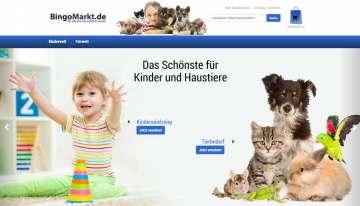 Online-Shop für Kinderspielzeug und Tierbedarf