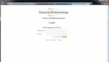 Online-Service für die Deutsche Wahlwerbung