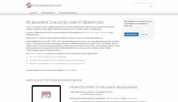 Online Shop für KI-basierte Logistik und IT Beratung