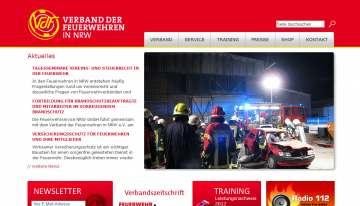 Website für 133.000 Mitglieder der Feuerwehr in NRW